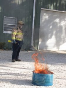 Fire Saftey Training During All Employee Training